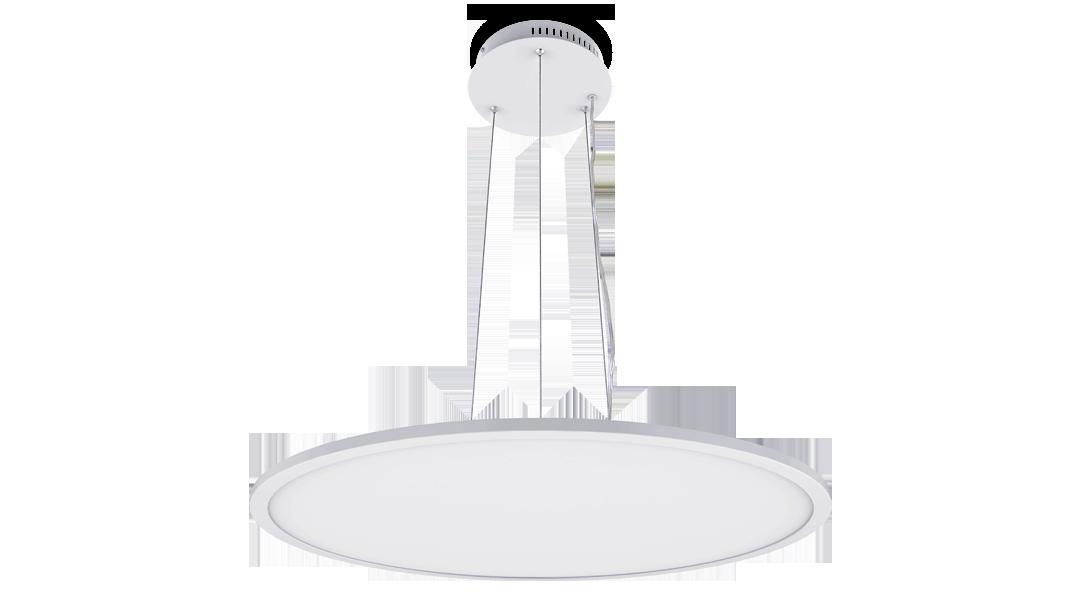 LED panel PROLUMEN 600 DIM Pendant white round 45W 3240lm  120° IP40 warm white 3000K