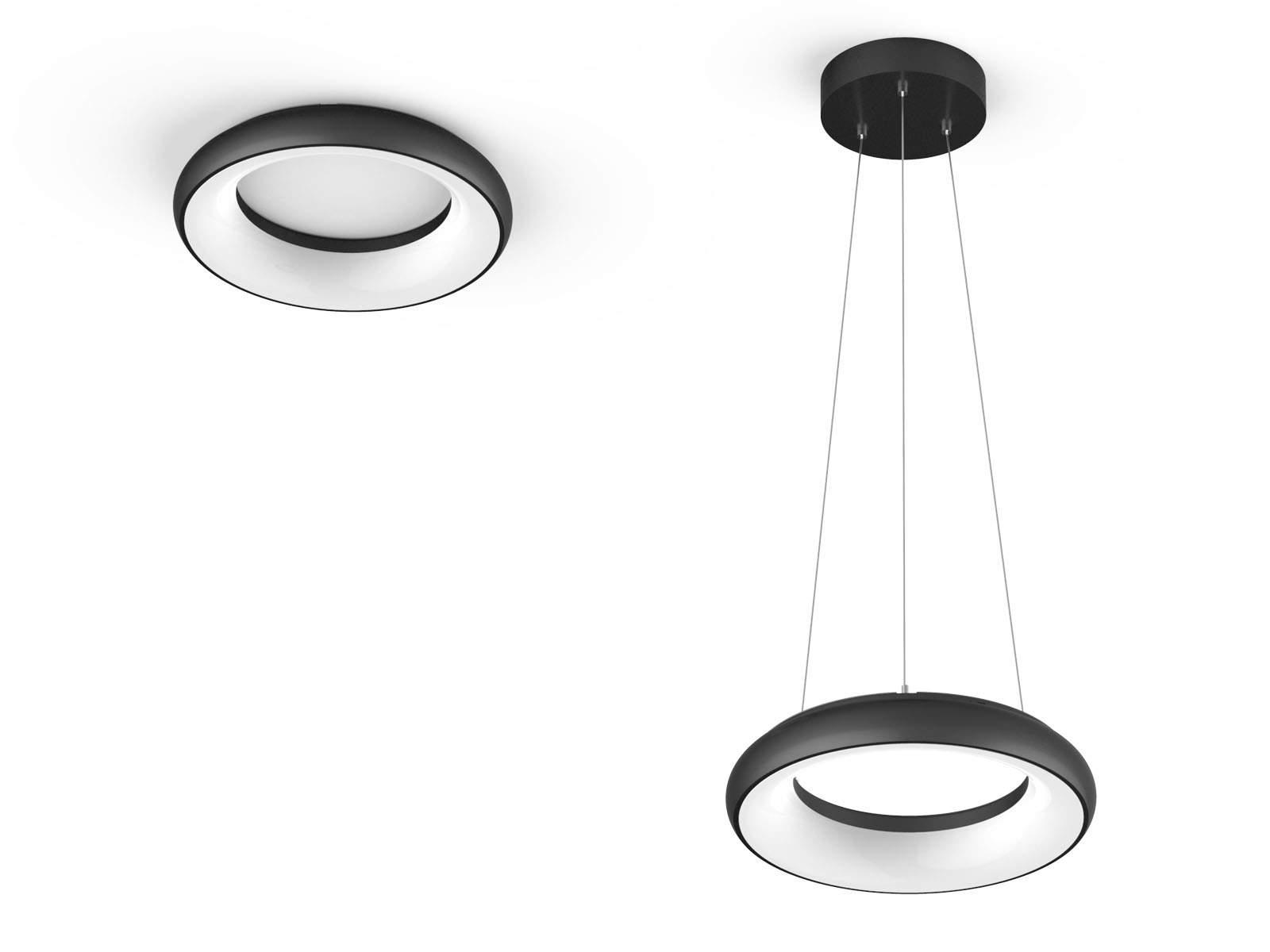 LED luminaire PROLUMEN Circle 24 Pendant DIM black  35W  120° IP40 pure white 4000K