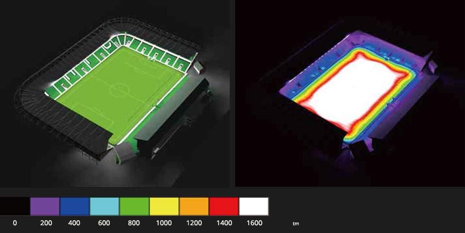 LED Prožektor PROLUMEN X Stadium F6 must  600W 78084lm  külm valge 5000K