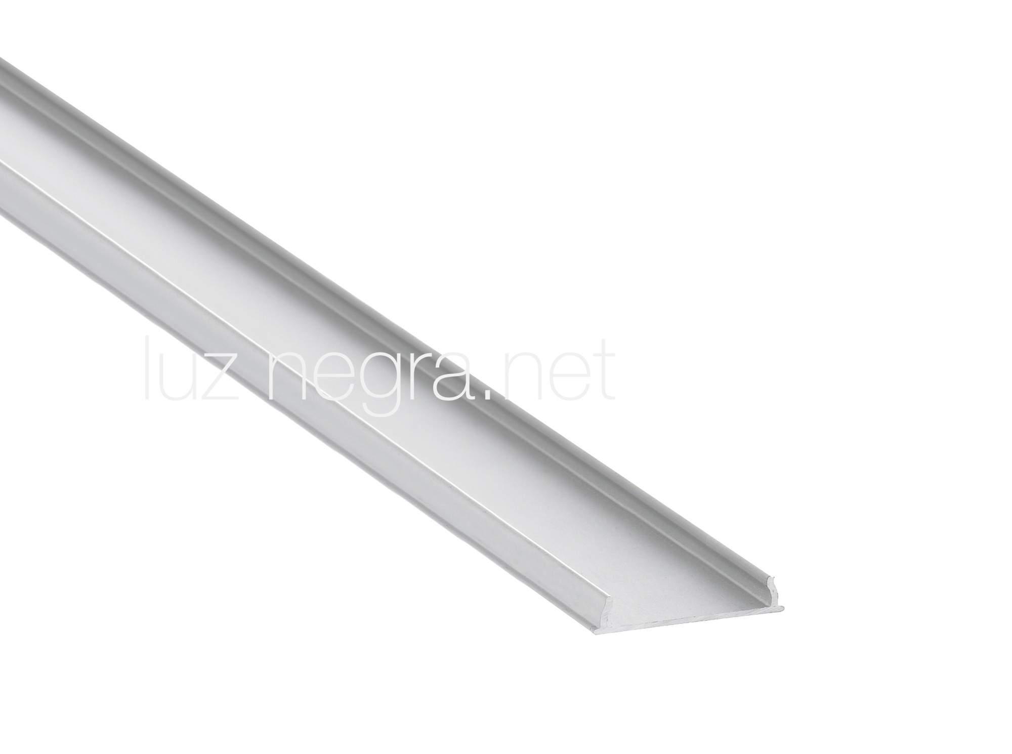 Alumiiniprofiili Alumiiniprofiili LUZ NEGRA Harmony 3m hopea
