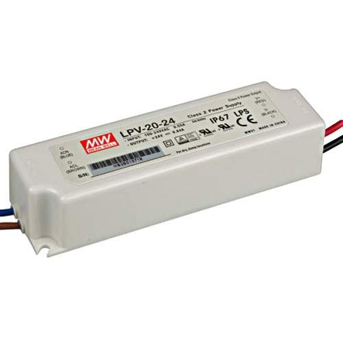 LED power supply unit LED power supply unit MEAN WELL 24V DC  LPV-20-24  20W  IP67