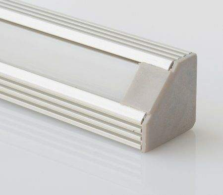 Alumiiniumprofiil Alumiiniumprofiil LUZ NEGRA Sofia XL otsakork avaga hall