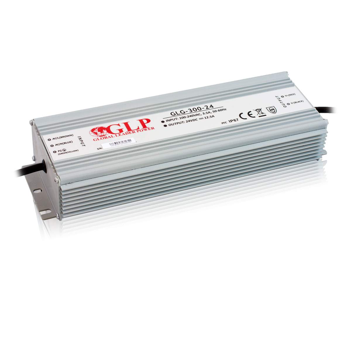 LED Toiteplokk GLP POWER 24V GLG-300-24 230V 300W IP67