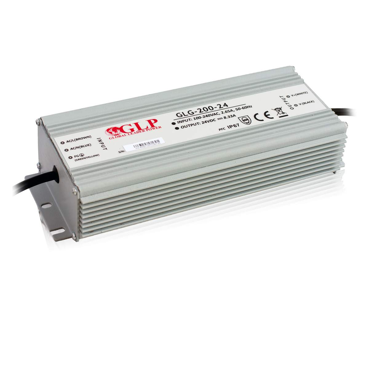 LED power supply unit LED power supply unit GLP POWER 24V GLG-200-24  200W  IP67