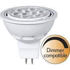 LED Pirn LED Pirn PROLUMEN MR16 ST DIM, 9LED 346-03  12V 8W 680lm CRI80G5.3 36° IP20 2700K soe valge