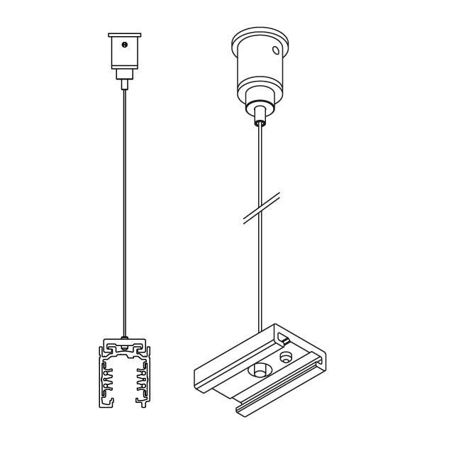 Power track IVELA 3F Suspension kit 2m wire white