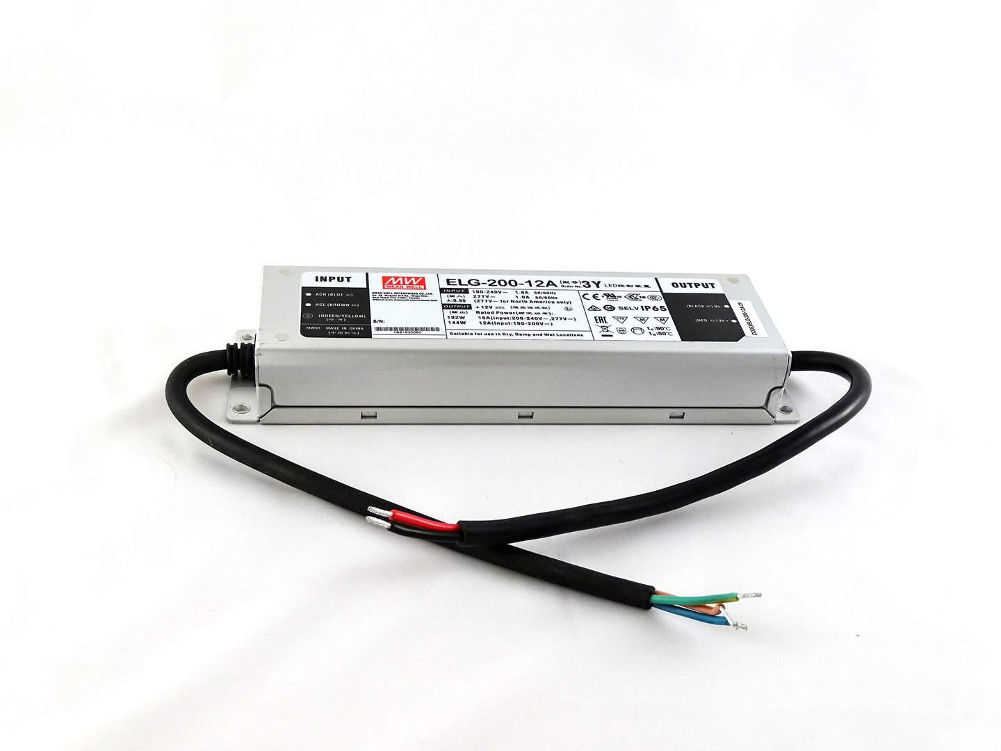 LED power supply unit LED power supply unit MEAN WELL 12DC ELG-200-12B  192W  IP67