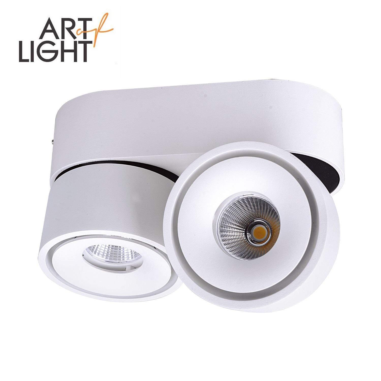 LED-alasvalo LAHTI MINI 2X8W valkoinen 230V 16W 1078lm CRI90 60° IP20 3000K lämmin valkoinen