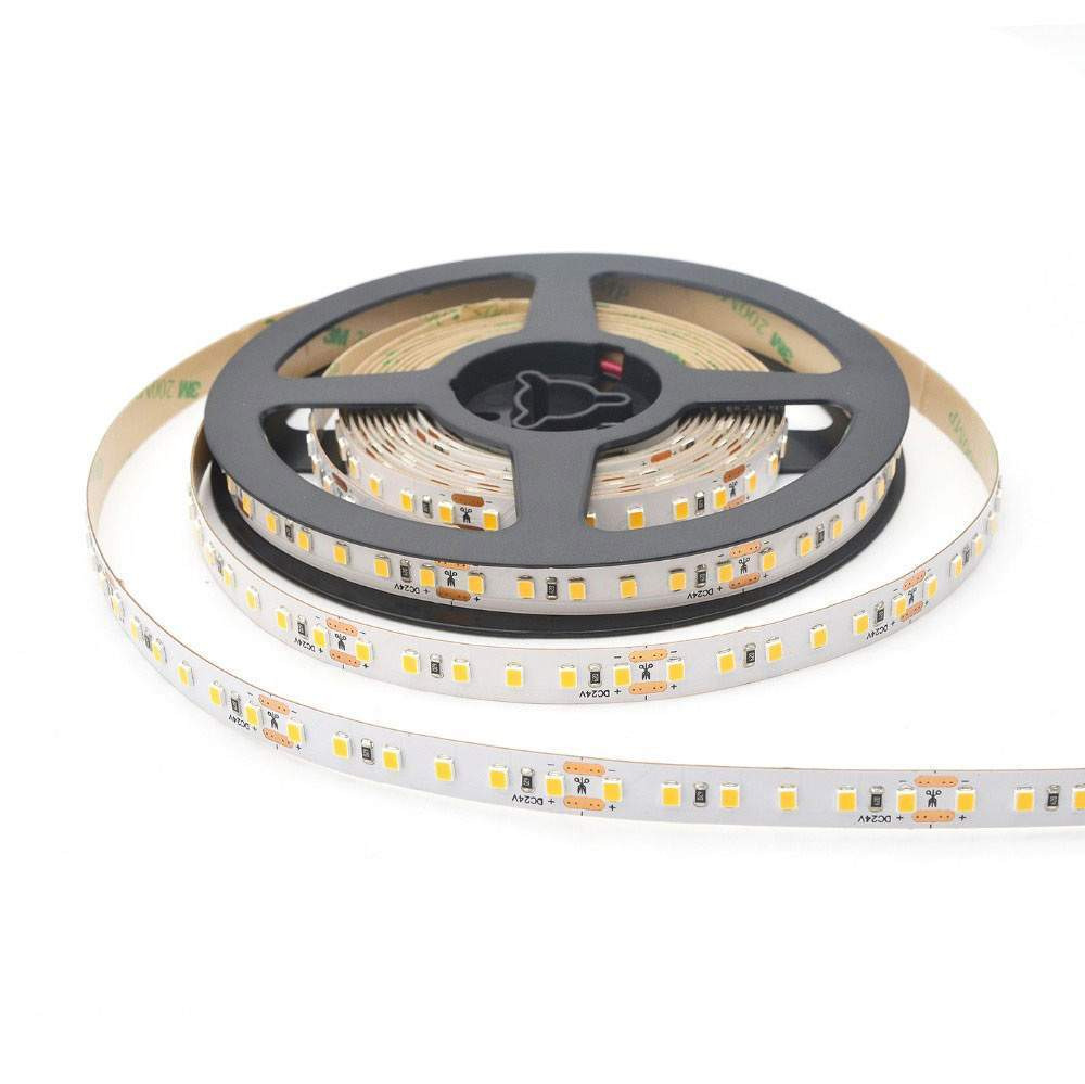 LED strip REVAL BULB 2835 120LED 1m CC constant current 24V 4.8W 500lm CRI90 120° IP20 3000K warm white