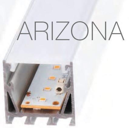 Alumiiniprofiili Alumiiniprofiili  ARIZONA 2,5m hopea