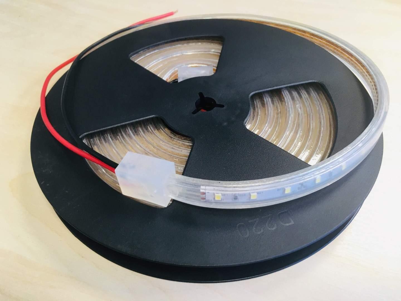 LED Riba 2835 60LED 5m rull 12V 7W 600lm CRI80 120° IP68 3000K soe valge