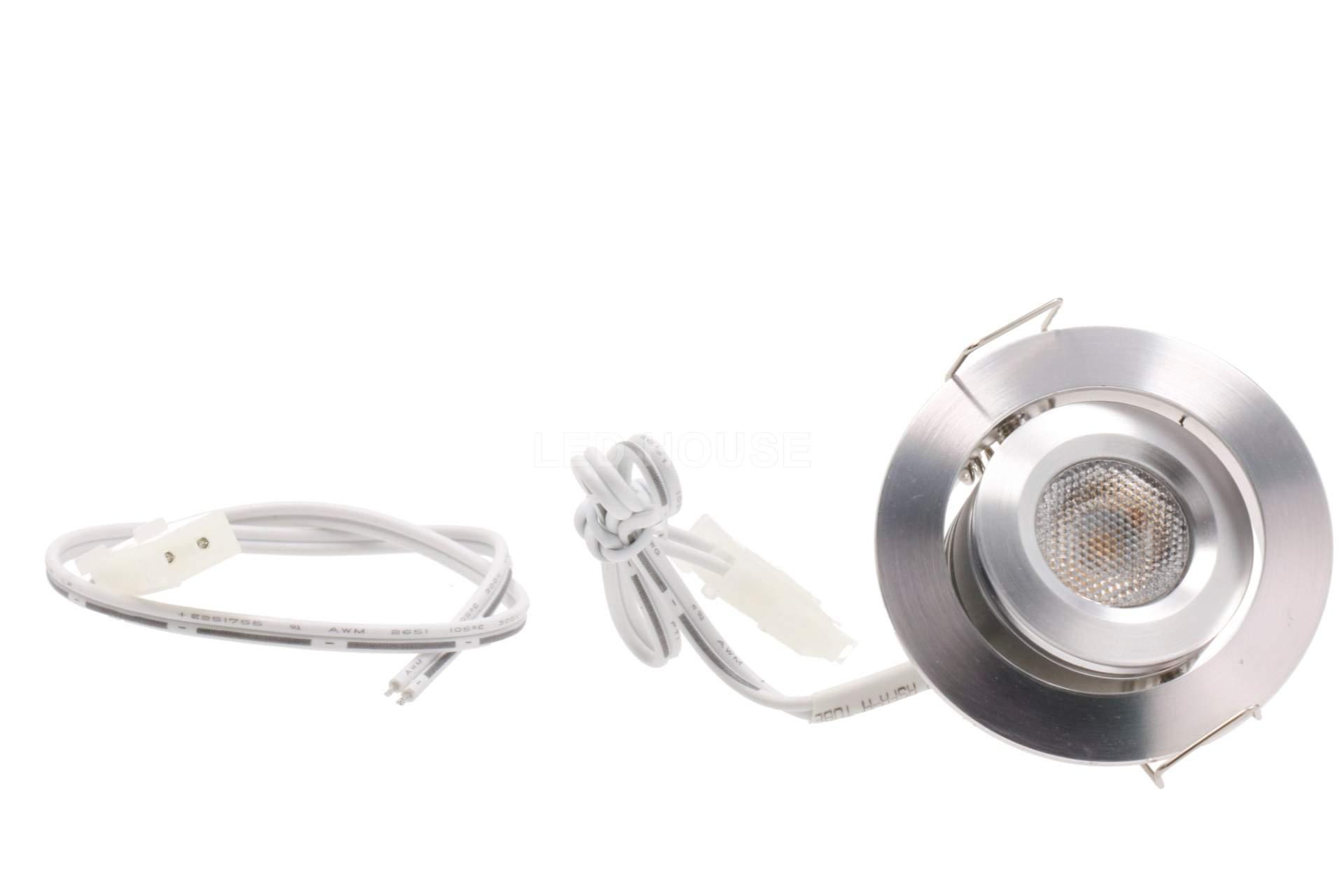 LED светильник для мебели LED светильник для мебели REVAL BULB MV-H серебряный круглый 12V 3W 115lm CRI80  45° IP20 3000K теплый белый