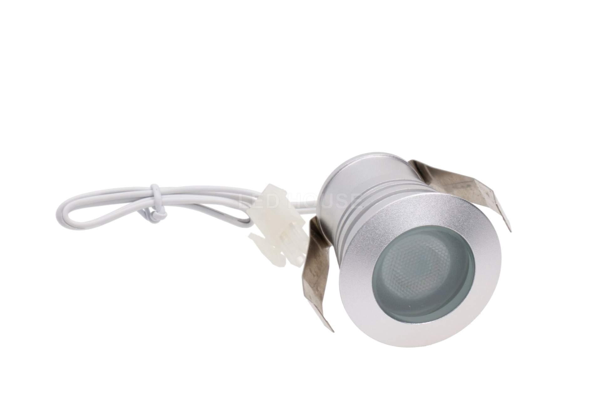 LED furniture light LED furniture light REVAL BULB MV-I silvery square 12V 3W 115lm CRI80  60° IP20 3000K warm white