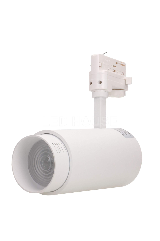 LED-kiskovalaisin LED-kiskovalaisin PROLUMEN Leon 15-60° ZOOM valkoinen  40W 4000lm CRI90  15-60° IP20 3000K lämmin valkoinen