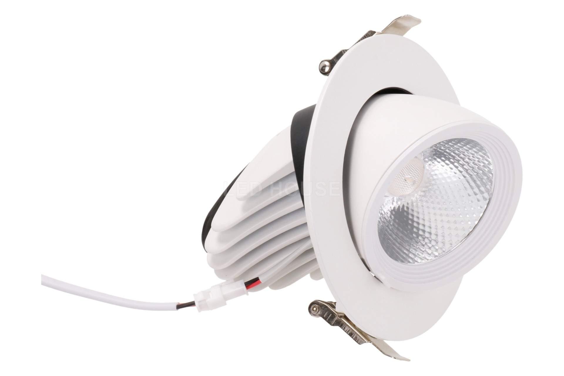 LED downlight LED downlight REVAL BULB Gimbal COB white  20W 1800lm CRI80  30° IP20 3000K warm white