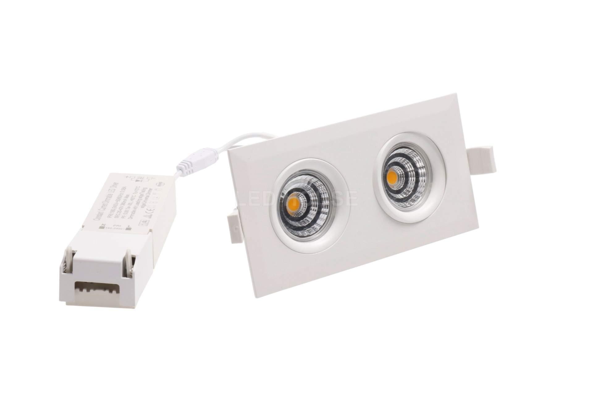 LED downlight LED downlight PROLUMEN Smart Plus 2x9W DIM white  18W 720lm CRI90  45° IP44 3000K warm white
