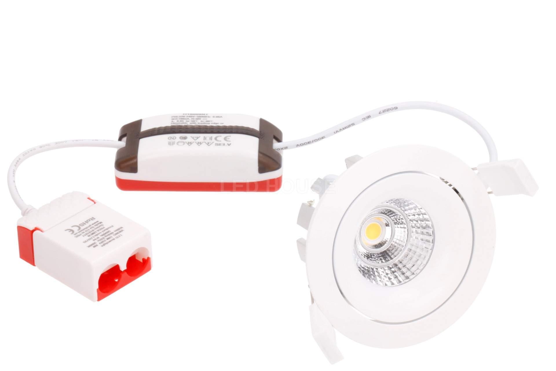 LED downlight LED downlight PROLUMEN VIKING DIM white round 8W 950lm CRI92  40° IP44 3000K warm white