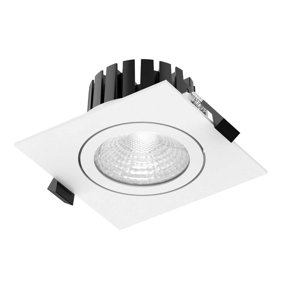 LED downlight PROLUMEN CL104A 2.5 white square 230V 8W 815lm CRI80 60° IP65 3000K warm white