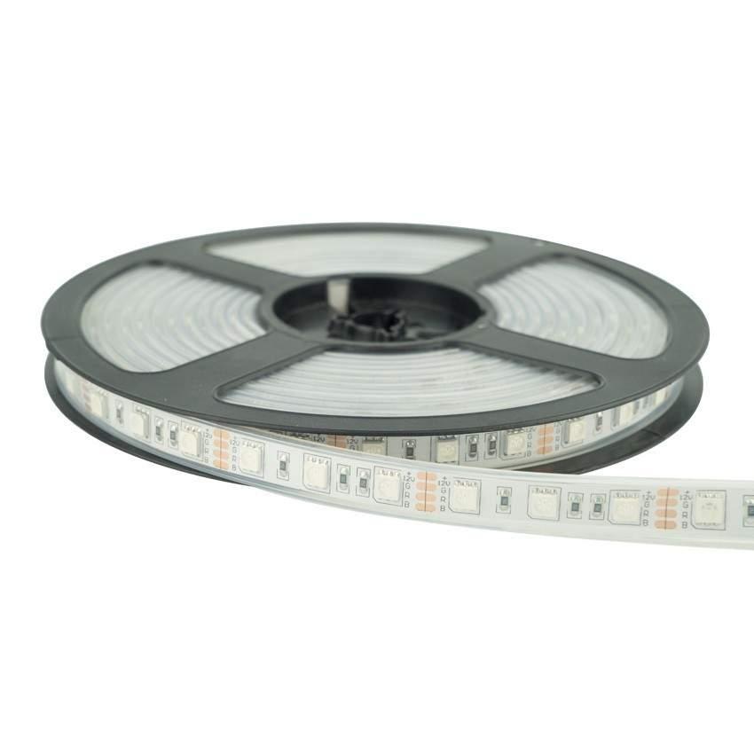 LED strip REVAL BULB 5050 30LED 5m roll silicon 12V 7.2W 260lm CRI80 120° IP67 RGB RGB