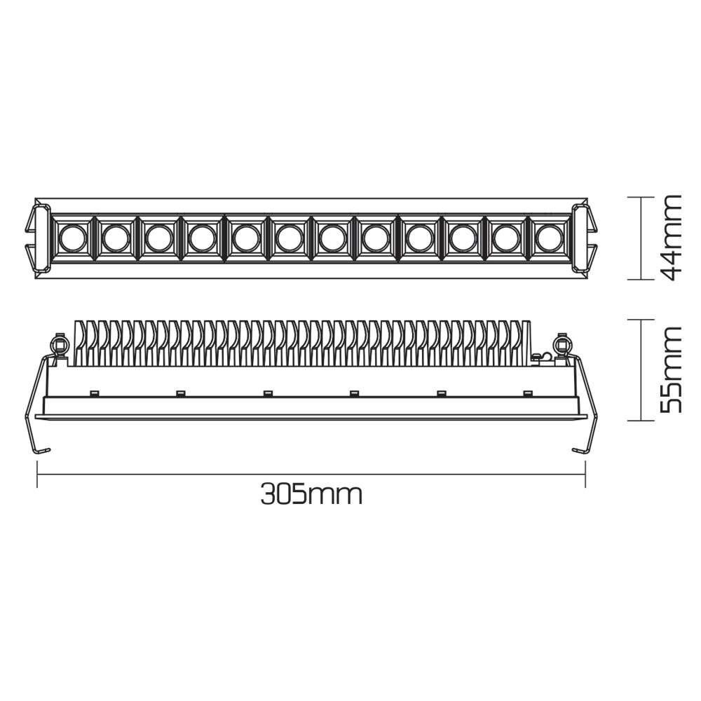 LED Allvalgusti PROLUMEN 13051 must 230V 30W 2400lm CRI80 60° IP20 4000K päevavalge