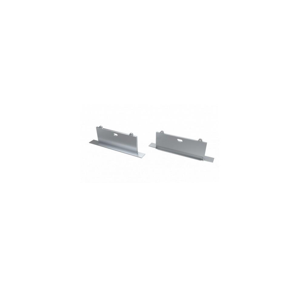 Alumiiniumprofiil Alumiiniumprofiil LUMINES SORGA otsakork avaga hõbedane
