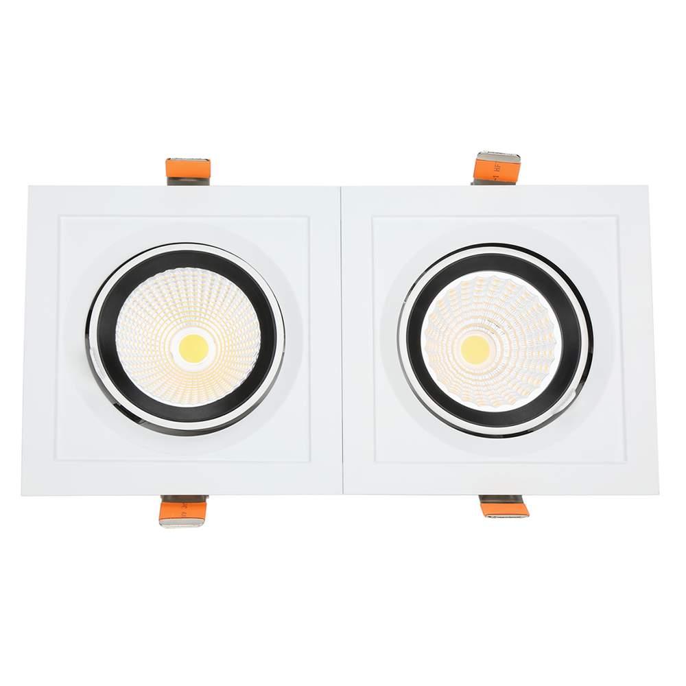 LED downlight PROLUMEN CL108-6 360x360 4x35W square 140W 14000lm CRI80 45° IP20 4000K pure white
