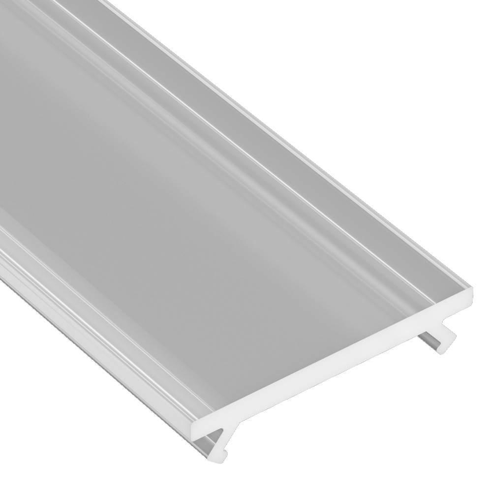 Aluminium profile cover LUMINES DOUBLE PMMA, 2m, frosted 78%