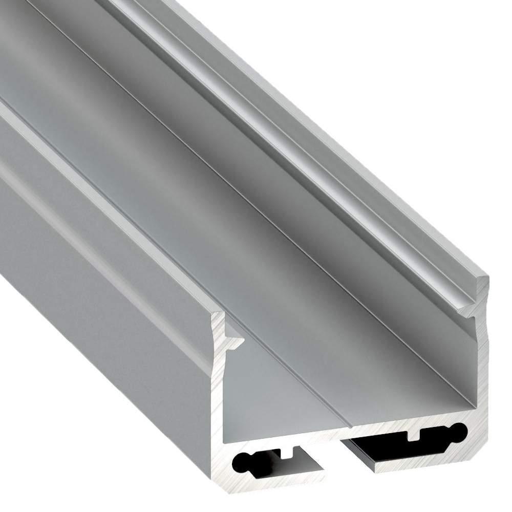 Aluminium profile LUMINES SILEDA 2m silvery