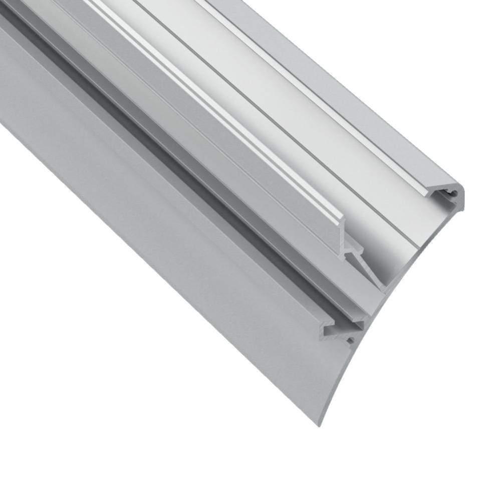 Alumiiniprofiili Logi 2m hopea