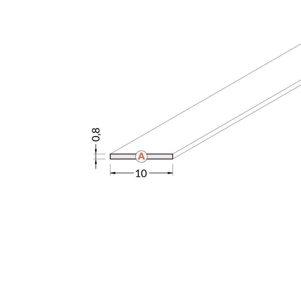 Крышка алюминиевого профиля A, 2m, матовый 90%