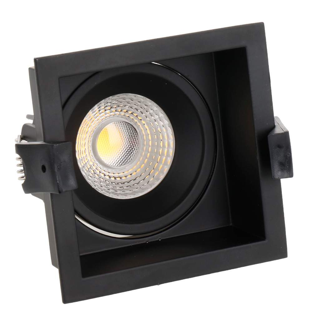 LED downlight PROLUMEN CL79C TRIAC black square 230V 10W 860lm CRI80 36° IP40 3000K warm white