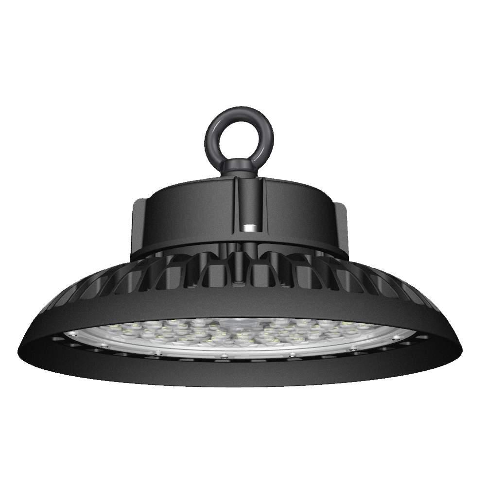 LED warehouse light PROLUMEN UFO NOTE 2 DIM black round 230V 150W 18900 CRI80 110° IP65 4000K pure white