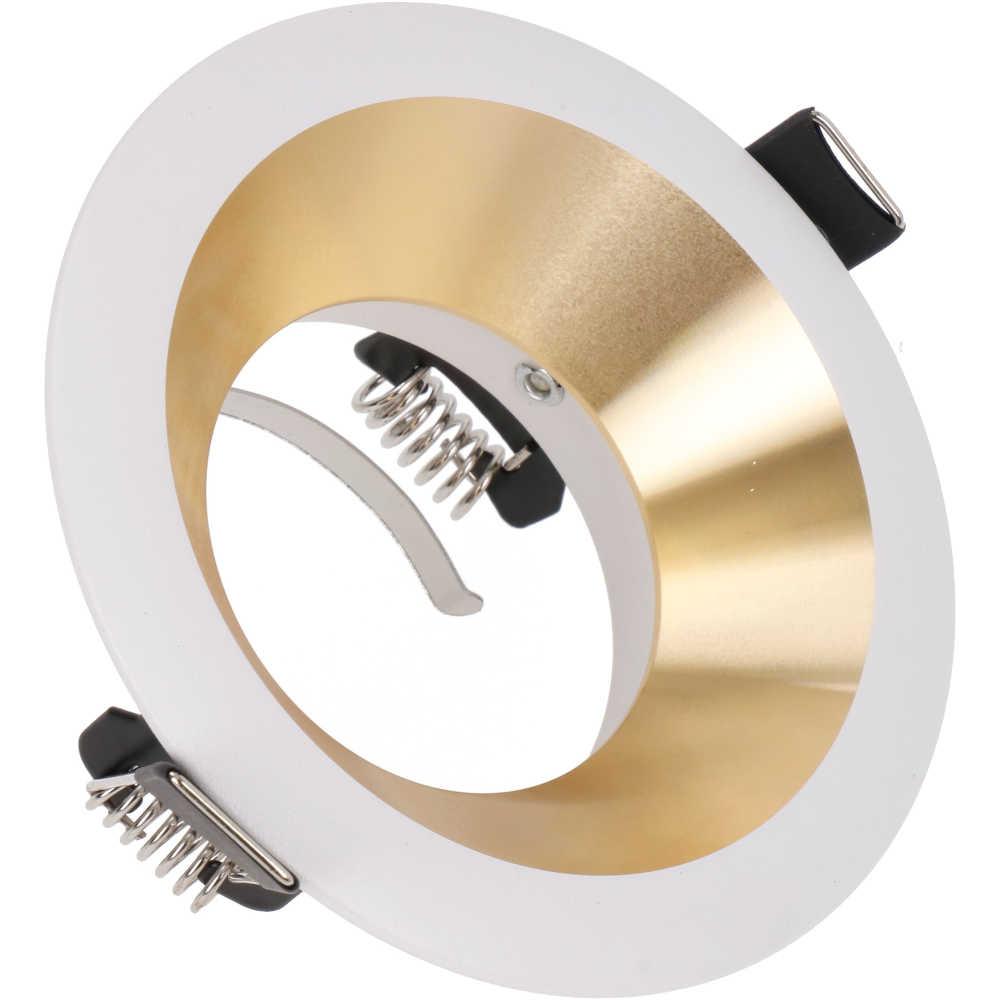 Valgusti raam Napoli valge / kuldne ring IP20