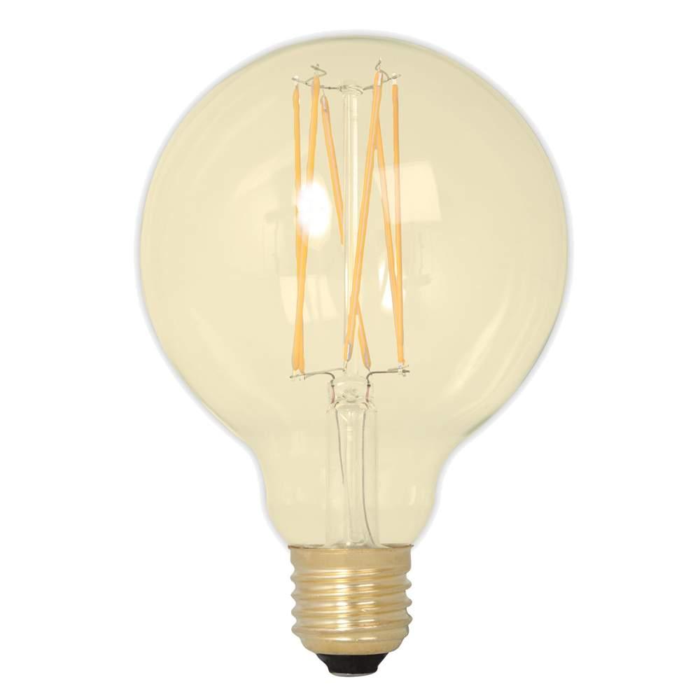 LED lamp G125 Soft Glow, 352-54 TRIAC 230V 3.6W 320lm CRI80 E27 360° IP44 2100K soe valge