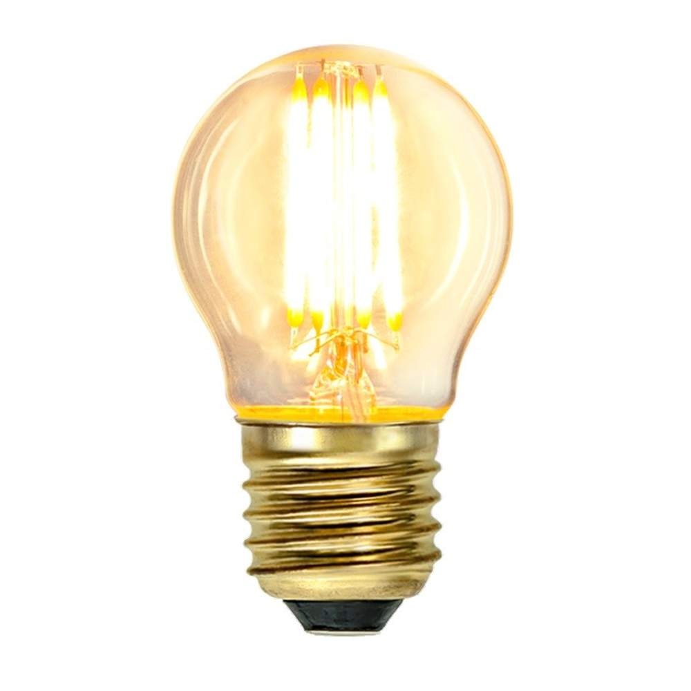 LED lamp G45 SOFT GLOW, 353-16 DIM 230V 4W 350lm CRI80 E27 360° IP44 2100K soe valge