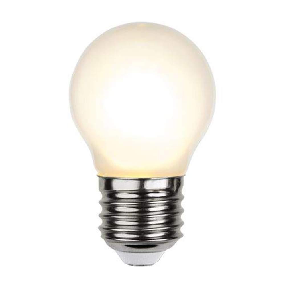 LED lamp G45 Frosted Filament DIM 350-24 230V 4W 350lm CRI80 E27 360° IP44 2700K soe valge