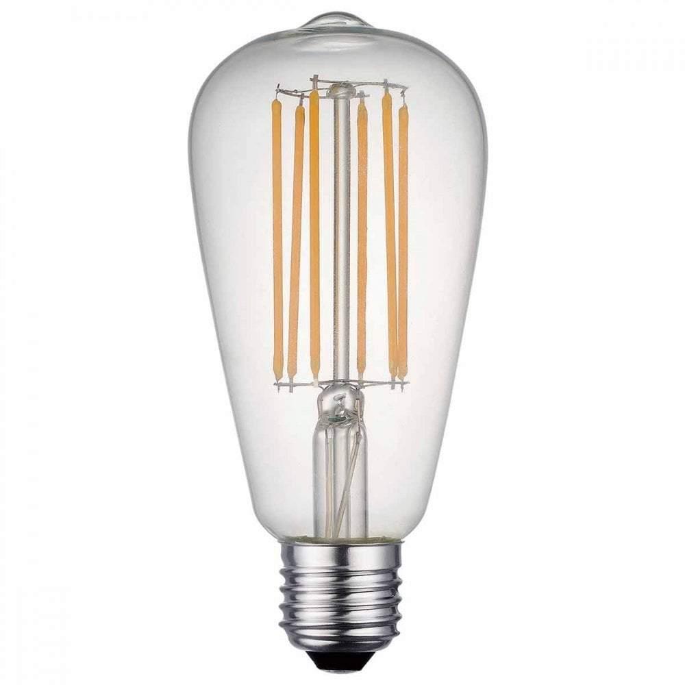 LED bulb FST64 230V 7W 800lm CRI80 E27 360° 2700K warm white