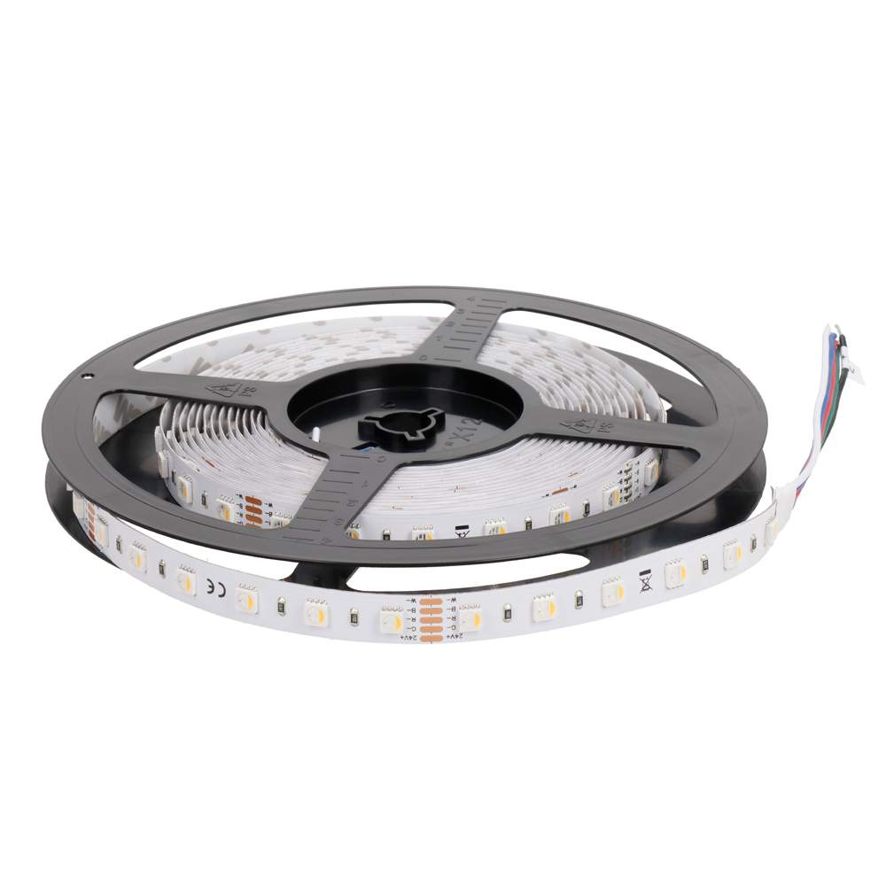 LED strip REVAL BULB 5050 60LED 1m 24V 19.2W CRI80 120° IP20 RGB+4000K RGBW pure white