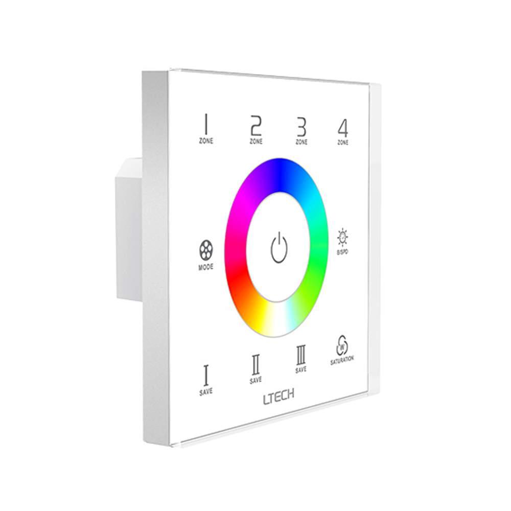 Juhtimispaneel LTECH EX7S RGB puutepaneel (4 tsooni) 230V IP20