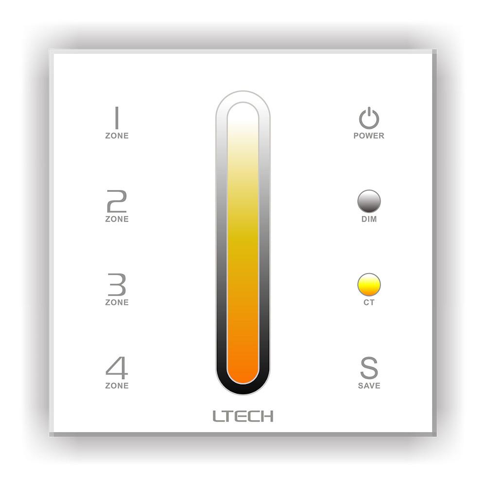 Control panel LTECH DX6 4 zone, 2.4GHz + DMX512 white 230V