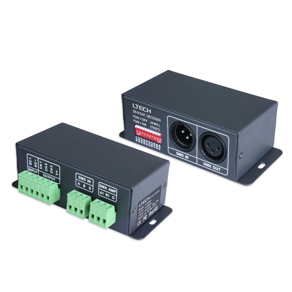 Juhtplokk DMX LTECH LT-8030 3 kanalit 3x4A 5-24V 288W
