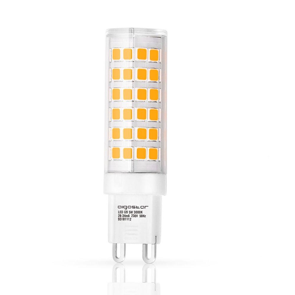 LED-lamppu AIGOSTAR 14627 230V 5W 450lm CRI80 G9 360° IP20 3000K lämmin valkoinen