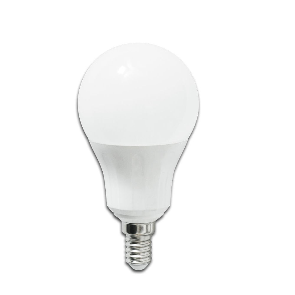 LED lamp AIGOSTAR A5 A60B 230V 7W 490lm CRI80 E14 280° IP20 3000K soe valge