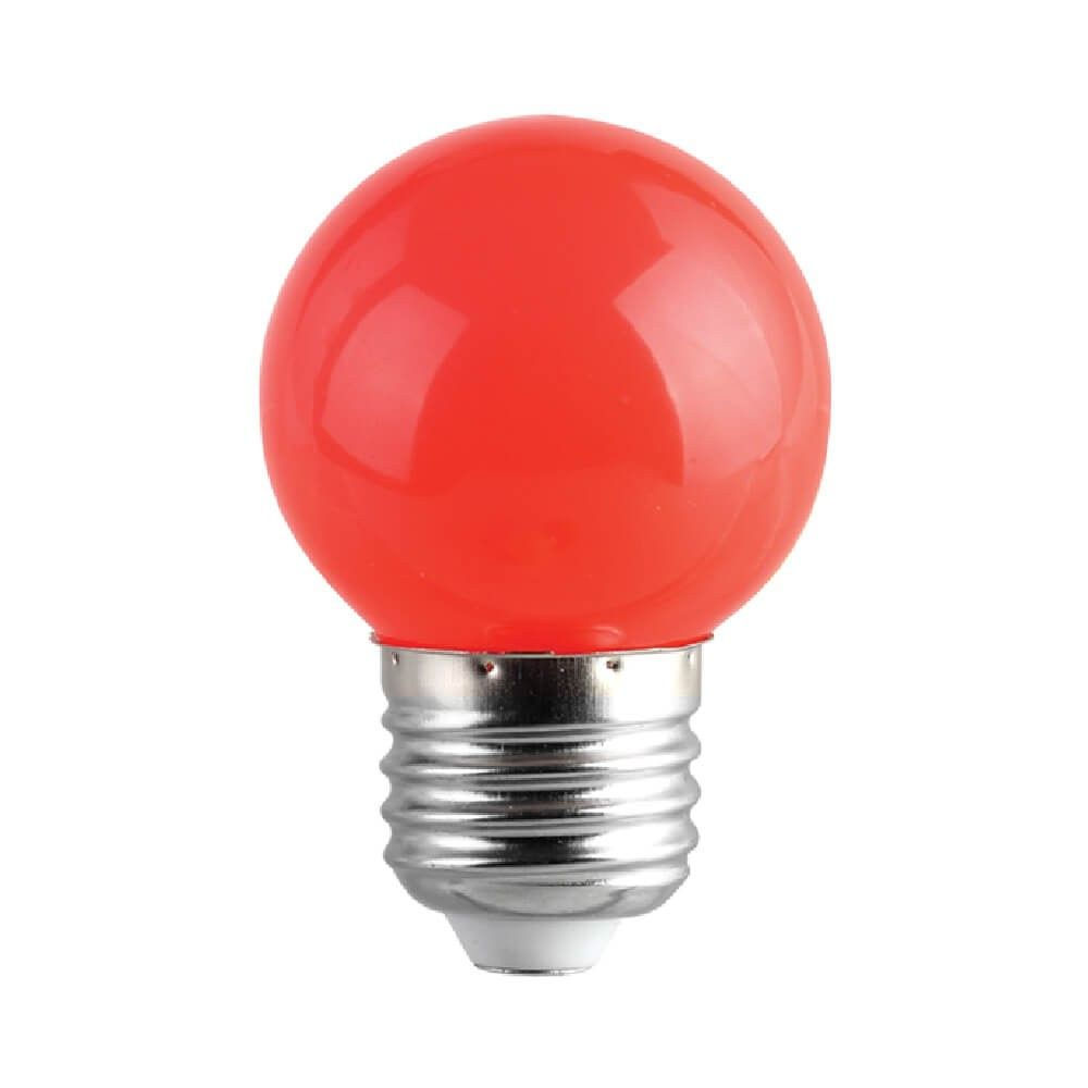LED bulb G45 230V 1W CRI80 E27 320° red red