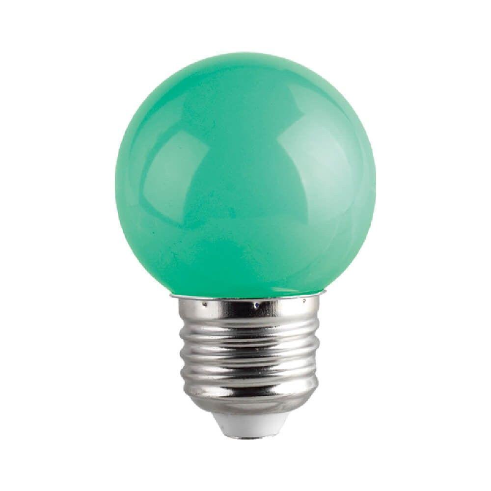 LED lamp G45 230V 1W CRI80 E27 320° green roheline