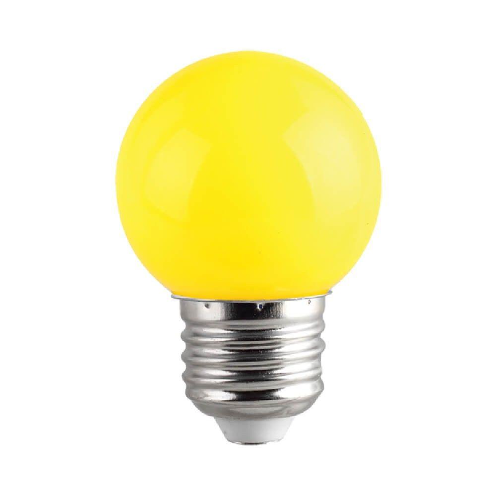 LED lamp G45 230V 1W CRI80 E27 320° yellow kollane