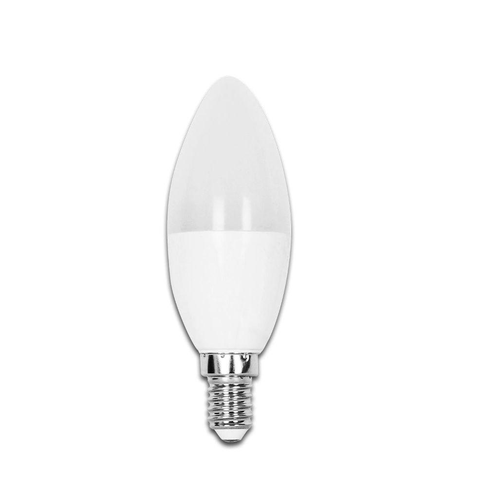 LED-lamppu AIGOSTAR A5 C37 kynttilä 230V 7W 490lm CRI80 E14 270° IP20 6500K kylmä valkoinen