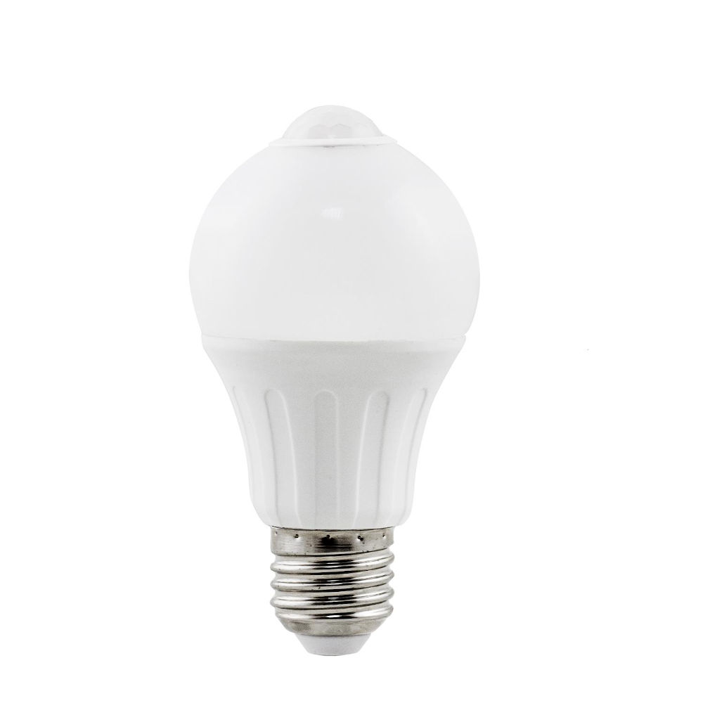 LED bulb AIGOSTAR A5S A60B detector 230V 6W 450lm CRI80 E27 280° IP20 3000K warm white