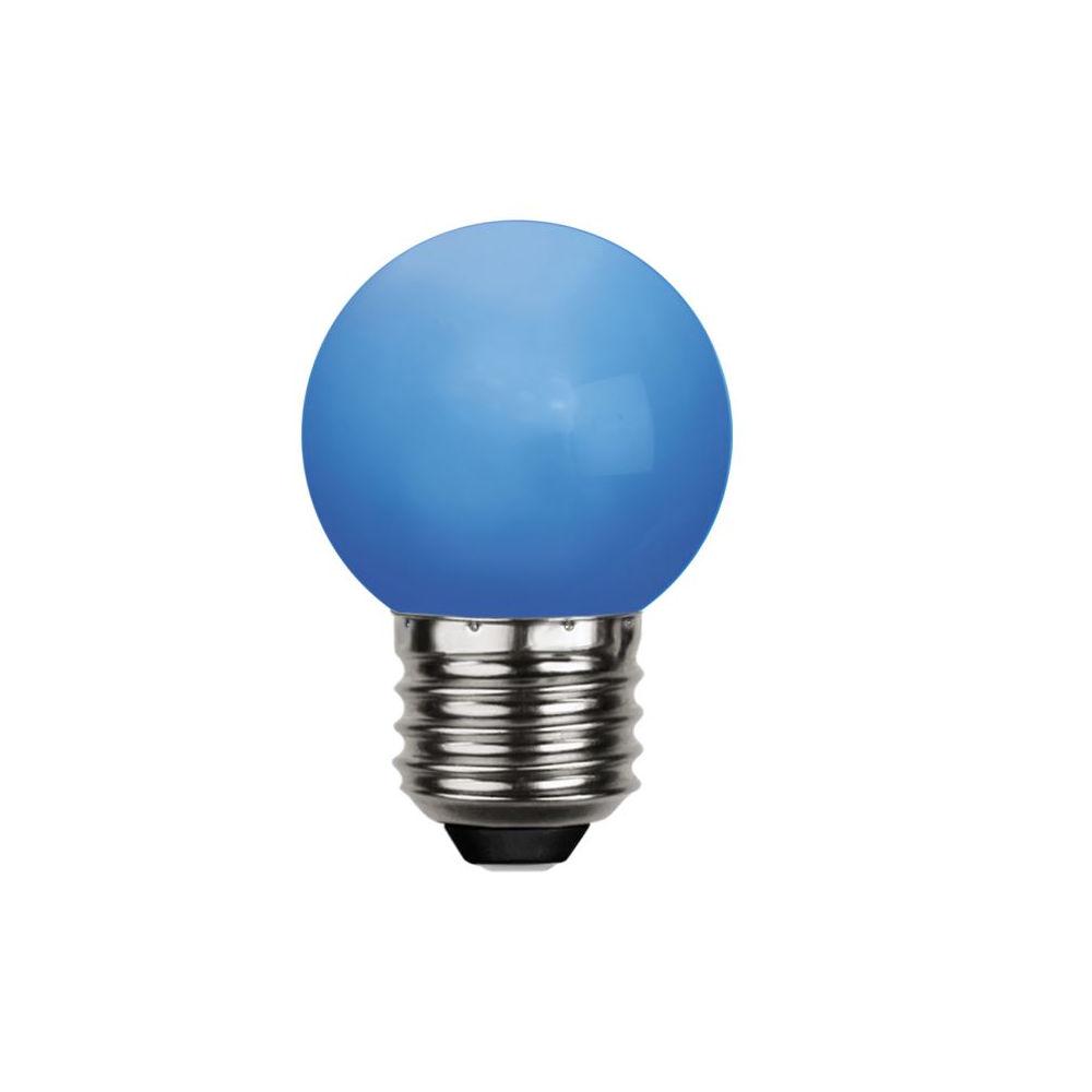 LED bulb G45 230V 1W 30lm E27 blue