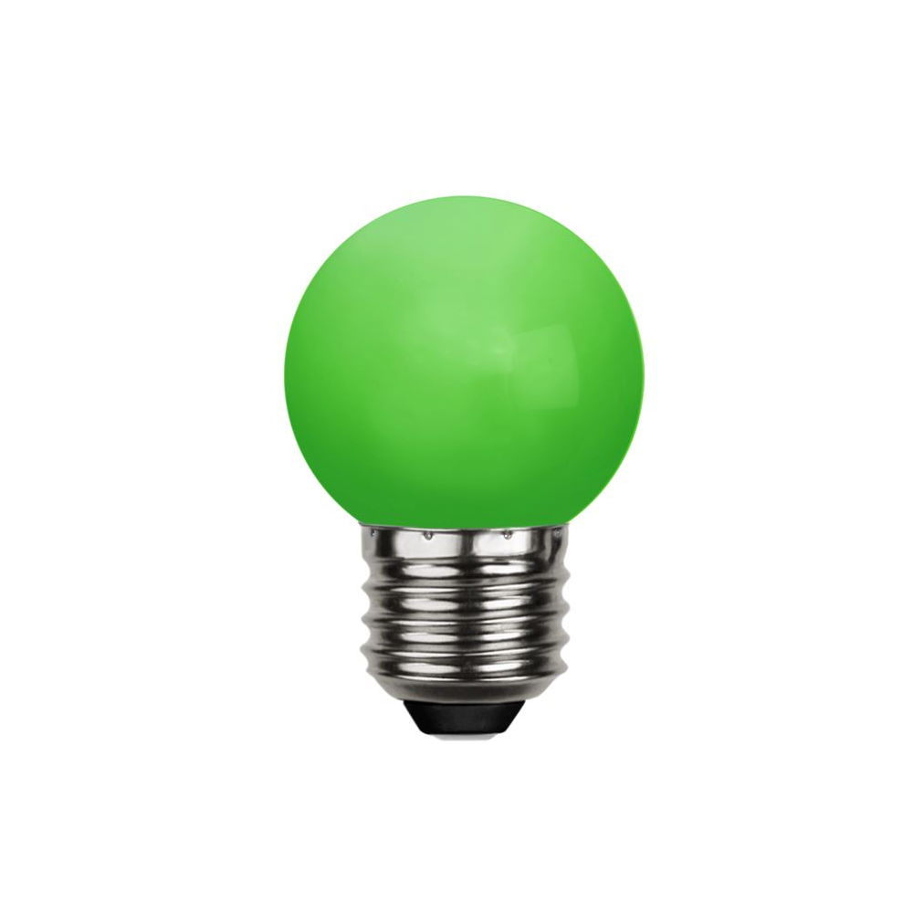 LED lamp G45 230V 1W 30lm E27 green roheline